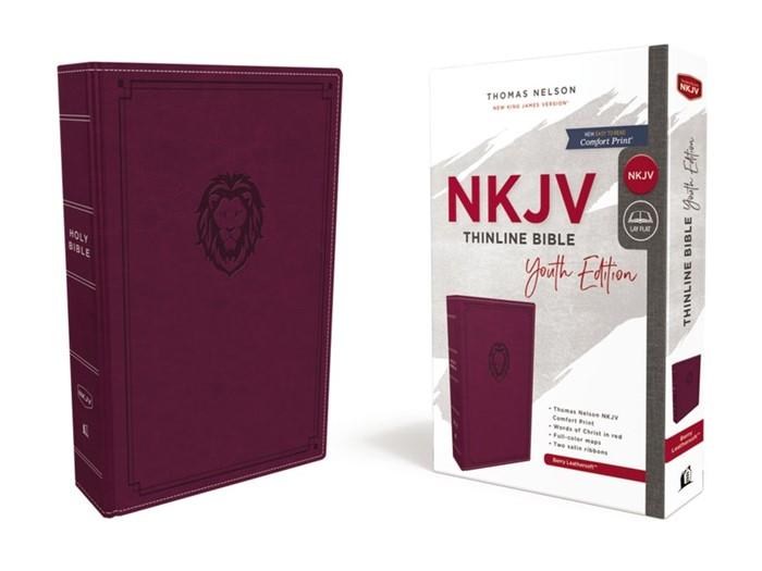 NKJV Thinline Bible, Youth Edition, Burgundy, Red Letter