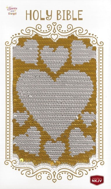 NKJV Sequin Bible, Silver/Gold (Hard Cover)