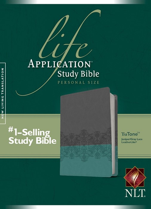 NLT Life Application Study Bible Personal Size Juniper/Gray (Imitation Leather)