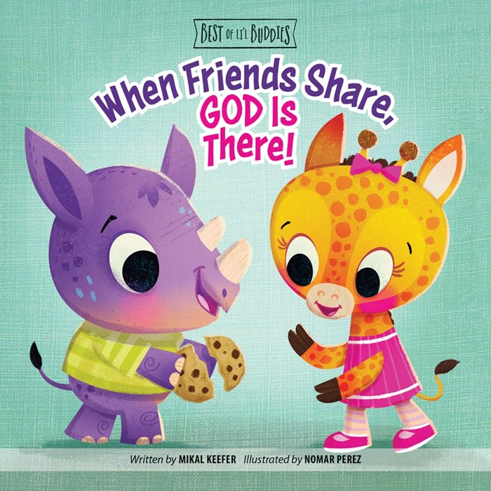 When Friends Share, God Is There! (Board Book)
