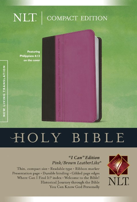 NLT Compact Edition Bible Tutone Pink/Brown (Imitation Leather)