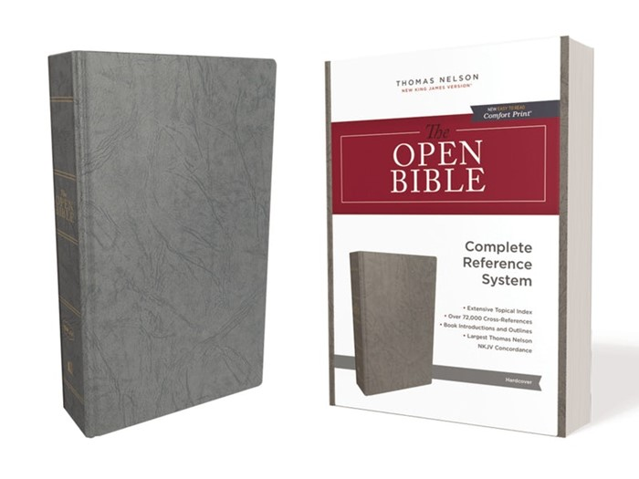 NKJV Open Bible, Red Letter Edition, Comfort Print (Hard Cover)