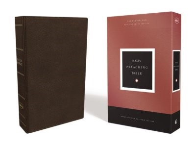 NKJV Preaching Bible, Brown Calfskin Leather (Genuine Leather)
