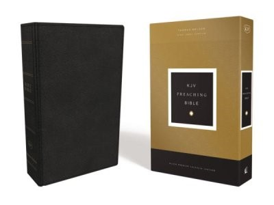 KJV Preaching Bible, Black Calfskin Leather (Genuine Leather)