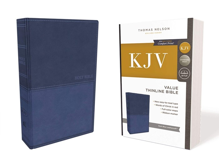KJV Value Thinline Bible, Blue, Red Letter Edition (Imitation Leather)