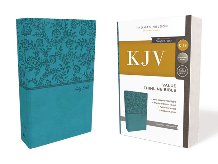 KJV Value Thinline Bible, Green, Red Letter Edition (Imitation Leather)