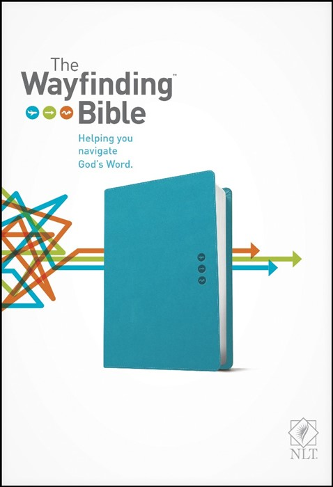 The NLT Wayfinding Bible Teal (Leather Binding)