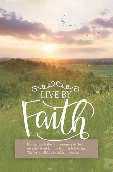 Live By Faith Bulletin (Pack of 100) (Bulletin)