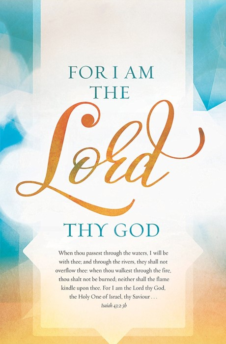 For I Am The Lord Thy God Bulletin (Pack of 100) (Bulletin)