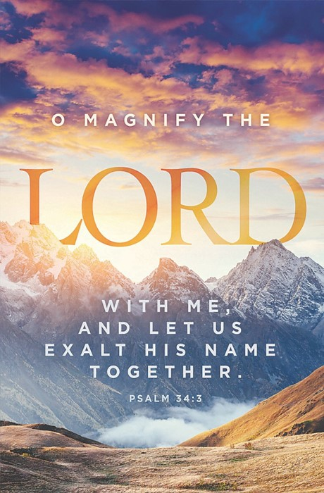 O Magnify The Lord Bulletin (Pack of 100) (Bulletin)
