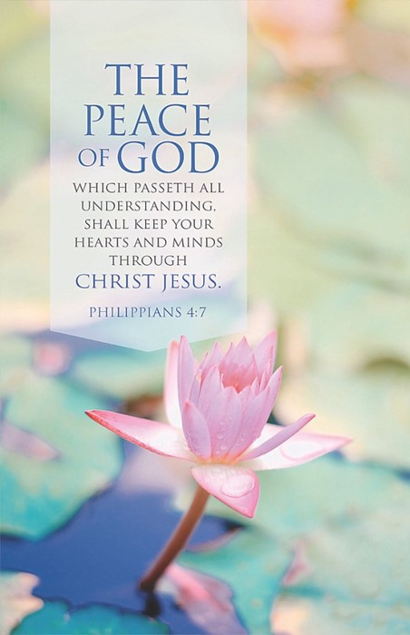 Peace Of God Bulletin (Pack of 100) (Bulletin)