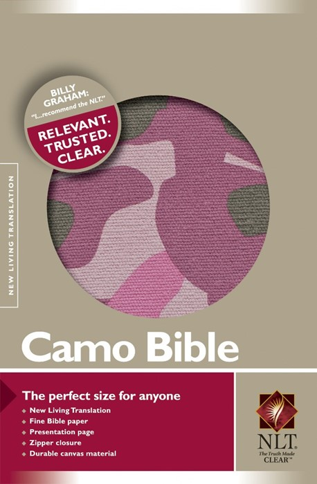 NLT Camo Bible Pink (Other Book Format)