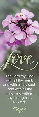 Love The Lord Bookmark (Pack of 25) (Bookmark)