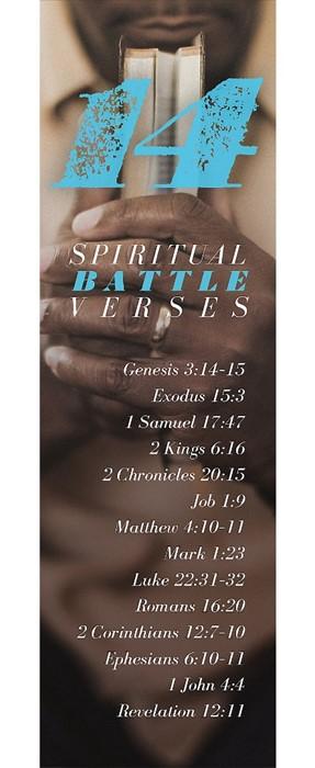 14 Spiritual Battle Verses Bookmark (Pack of 25) (Bookmark)