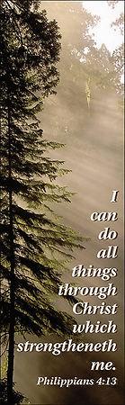 Philippians 4:13 Bookmark (Pack of 25) (Bookmark)