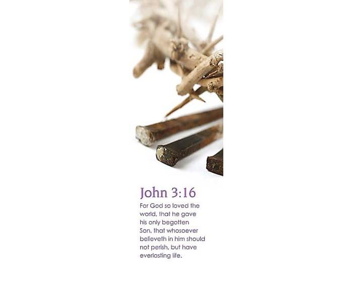 John 3:16 Bookmark (Pack of 25) (Bookmark)