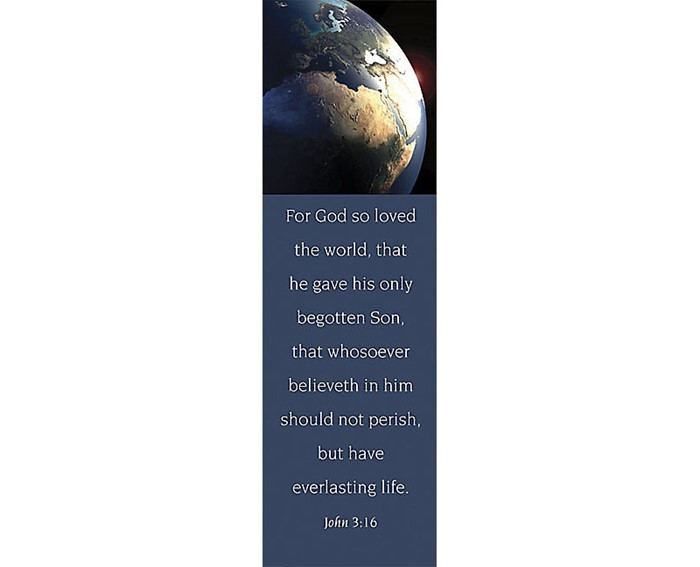 John 3:16 Bookmark (Pack of 25) (Bookmark)