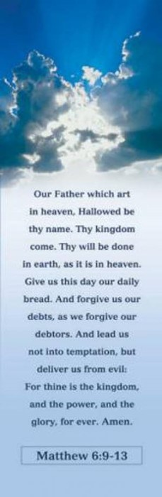The Lord's Prayer Bookmark (Pack of 25) (Bookmark)