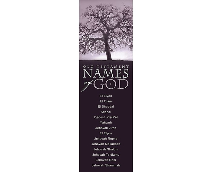 Names Of God Old Testament Bookmark (Pack of 25) (Bookmark)