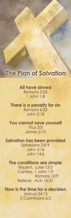 Plan Of Salvation Bookmark (Pack of 25) (Bookmark)