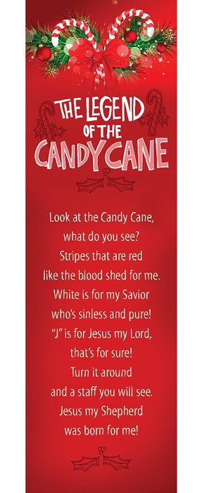 Legend Of The Candy Cane Bookmark (Pack of 25) (Bookmark)