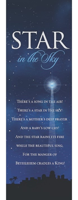 Star In The Sky Bookmark (Pack of 25) (Bookmark)