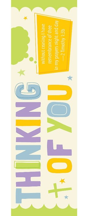 Thinking Of You Bookmark (Pack of 25) (Bookmark)