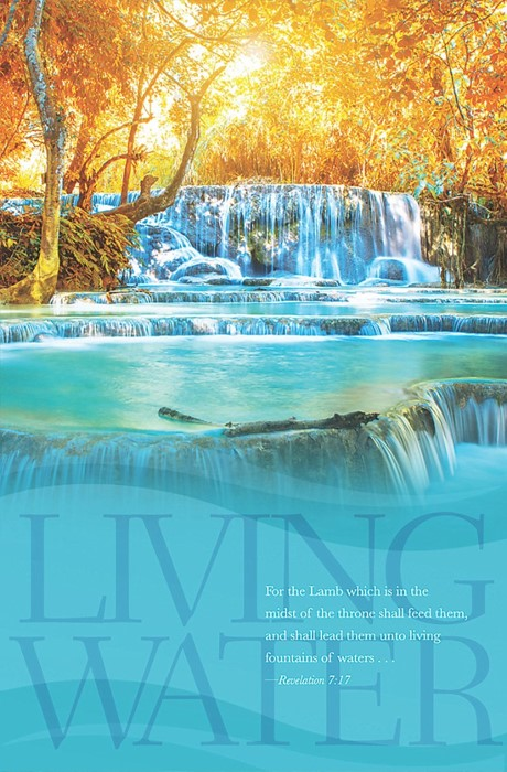 Living Waters Bulletin (Pack of 100) (Bulletin)