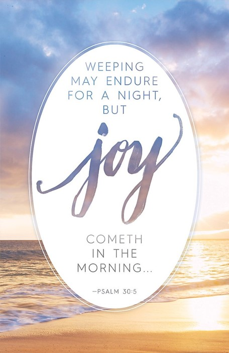 Joy Cometh In The Morning Bulletin (Pack of 100) (Bulletin)