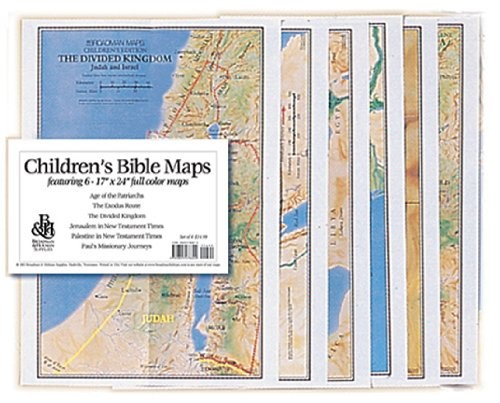 Children's Bible Maps, Set Of 6