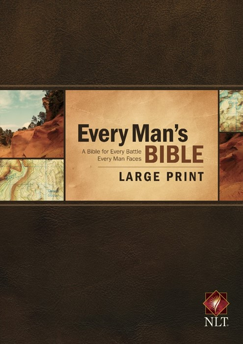 NLT Every Man's Bible Large Print (Hard Cover)