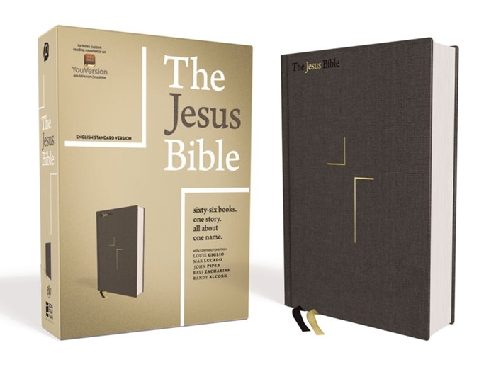 ESV Jesus Bible, Gray, Cloth Over Board (Cloth-Bound)