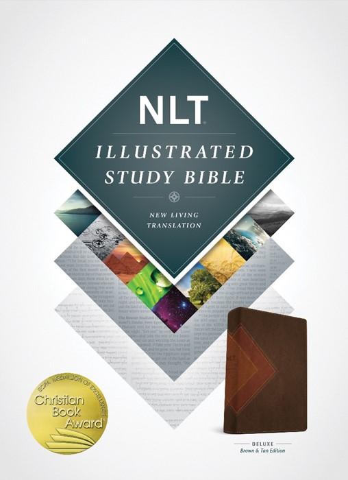 NLT Illustrated Study Bible Tutone Brown/Tan (Imitation Leather)