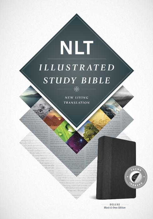 NLT Illustrated Study Bible Tutone Black/Onyx, Indexed (Imitation Leather)
