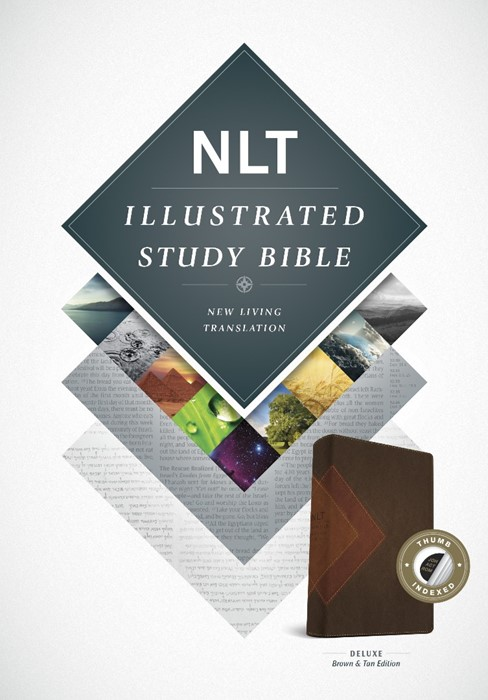 NLT Illustrated Study Bible Tutone Brown/Tan, Indexed (Imitation Leather)