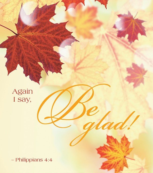 Be Glad Thanksgiving Bulletin, Large (Pkg of 50) (Bulletin)