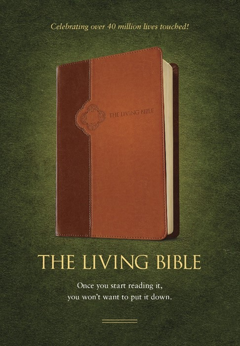 The Living Bible Tutone Brown/Tan (Imitation Leather)