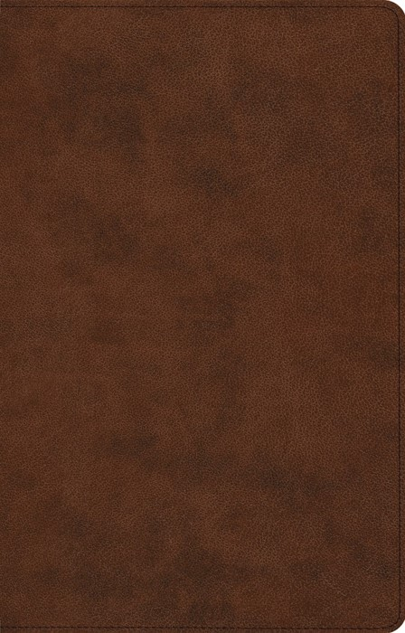 ESV Large Print Thinline Reference Bible, TruTone, Brown (Imitation Leather)