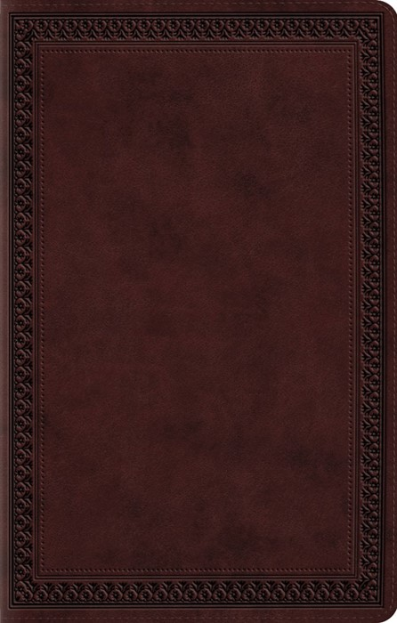 ESV Premium Gift Bible, TruTone, Mahogany, Border Design (Imitation Leather)