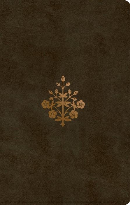 ESV UltraThin Bible, TruTone, Olive, Branch Design (Imitation Leather)