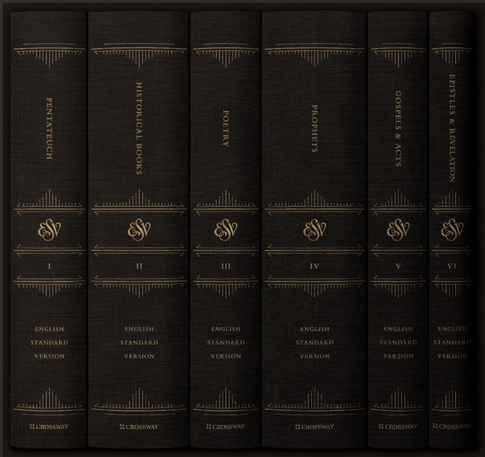ESV Reader's Bible, Six-Volume Set: Chapter and Verse Number (Hard Cover)