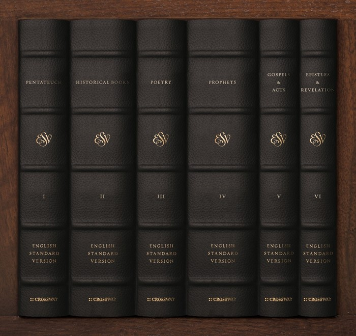 ESV Reader's Bible, Six-Volume Set: Chapter and Verse Number (Genuine Leather)