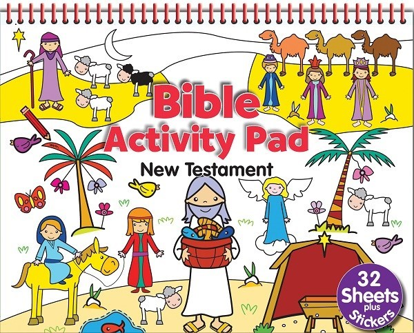 Bible Activity Pad: New Testament (Spiral Bound)