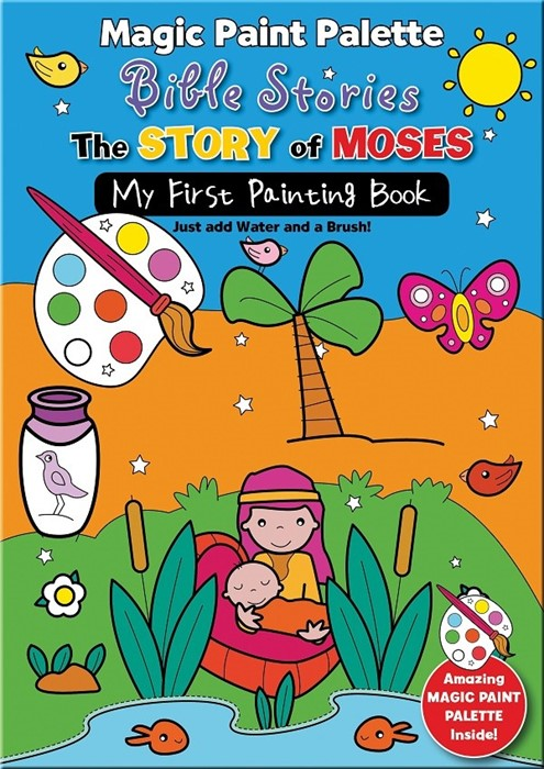 Magic Paint Palette Bible Stories: The Story Of Moses (Paperback)