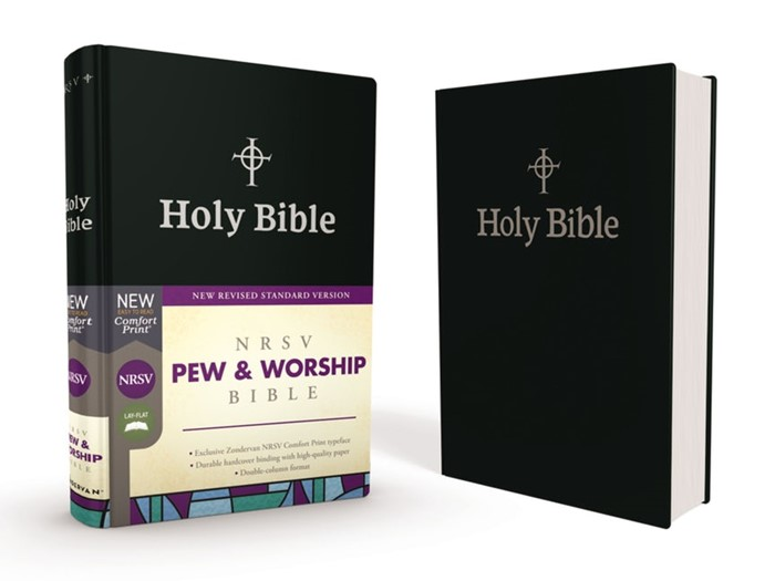 NRSV Pew And Worship Bible, Black, Comfort Print (Hard Cover)