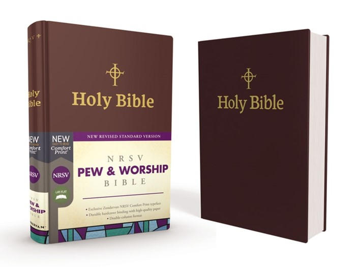 NRSV Pew And Worship Bible, Burgundy, Comfort Print (Hard Cover)
