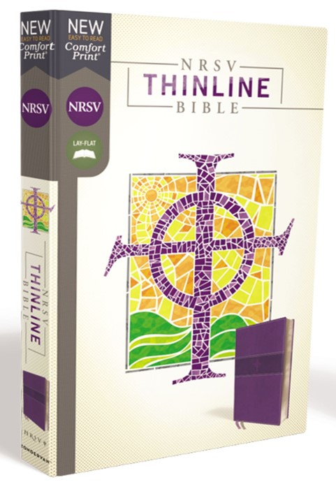 NRSV Thinline Bible, Purple, Comfort Print (Imitation Leather)