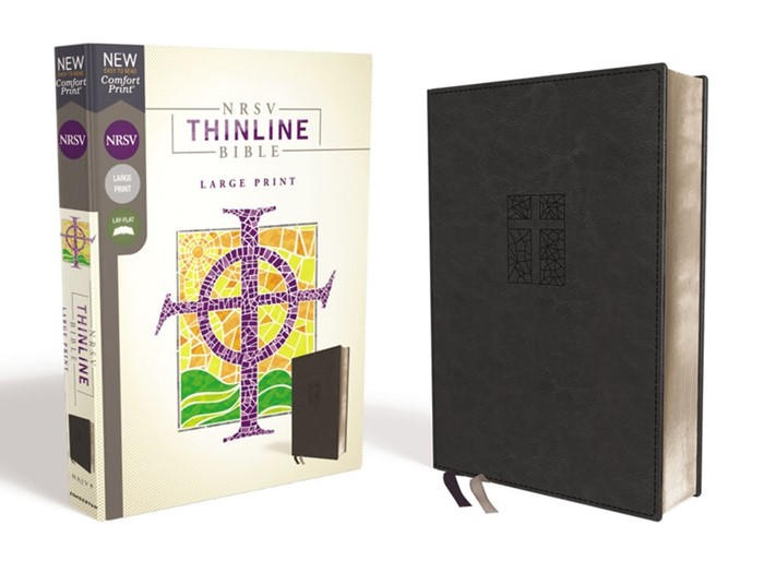 NRSV Thinline Bible, Black, Large Print (Imitation Leather)