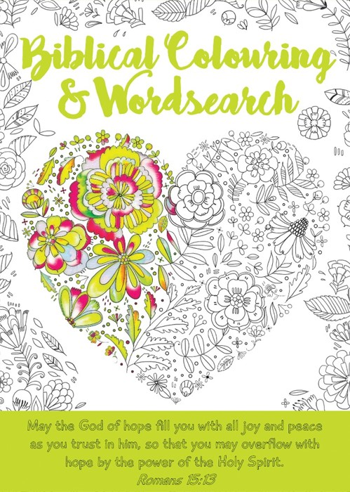 Biblical Colouring and Wordsearch Book: Heart (Paperback)