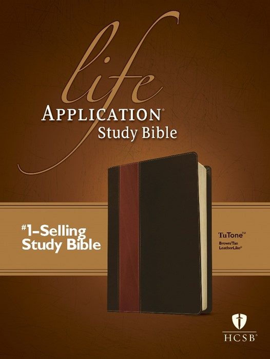 HCSB Life Application Study Bible Tutone Brown/Tan (Imitation Leather)